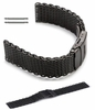 Relic Compatible Black Stainless Steel Metal Shark Mesh Bracelet Watch Band Strap Double Locking #5032