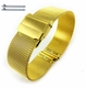 Relic Compatible Steel Metal Adjustable Mesh Bracelet Watch Band Strap Double Lock Clasp Gold #5027