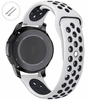 Relic Compatible White & Black Silicone Replacement Watch Band Strap Quick Release Pins #4081
