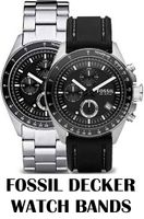 Replacement Bands for Fossil Decker watch