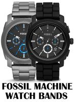 Replacement Bands for Fossil Machine Chronograph watch