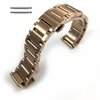 Rose Gold Brushed Steel Replacement Watch Band Push Butterfly Clasp #5094