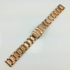 Relic Compatible Rose Gold Stainless Steel Metal Watch Band Strap Double Locking Buckle #5000RG