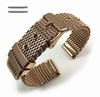 Rose Gold stainless Steel Thick Mesh Replacement Watch Band Strap #5104