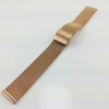 Nautica Compatible Rose Gold Steel Metal Adjustable Mesh Bracelet Replacement Watch Band Strap #5024
