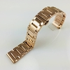 Rose Gold Steel Metal Bracelet Replacement 20mm Watch Band Butterfly Clasp #5013
