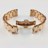 Rose Gold Steel Metal Bracelet Replacement Watch Band Strap Push Butterfly Clasp #5013