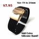 Armitron Compatible Rose Gold Steel Metal Bracelet Replacement Watch Band Strap Push Butterfly Clasp #5013
