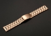 Rose Gold Steel Metal Bracelet Replacement 20mm Watch Band Button Clasp #5018