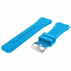 Pebble Time Classic Round Sky Blue Rubber Silicone Replacement Watch Band Strap Quick Release Pins #4046