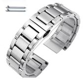 Stainless Steel Brushed Metal Replacement Watch Band Strap Butterfly Clasp #5071