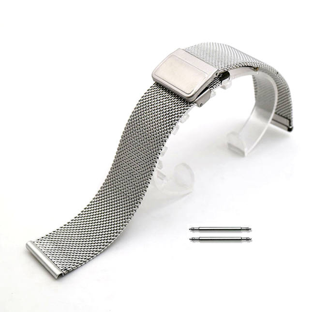 Stainless Steel Metal Adjustable Mesh Bracelet Replacement Watch Band Strap #5021