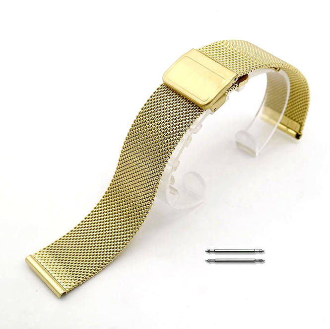 Tissot Compatible Stainless Steel Metal Adjustable Mesh Bracelet Replacement Watch Band Strap Gold #5023