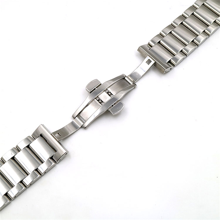 Emporio Armani Compatible Stainless Steel Brushed Metal Replacement Watch Band Strap Butterfly Clasp #5071