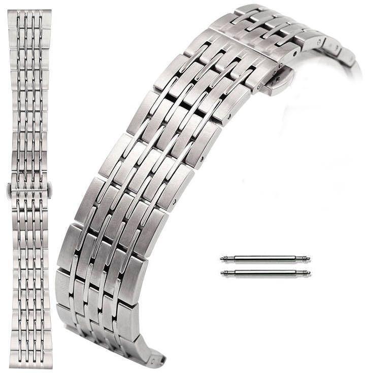 Stainless Steel Metal Bracelet Replacement 20mm Watch Band Butterfly Clasp #5004