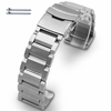 Stainless Steel Metal Bracelet Replacement Watch Band Strap Double Locking clasp #5003