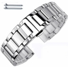 Stainless Steel Metal Bracelet Replacement Watch Band Strap Push Butterfly Clasp #5010