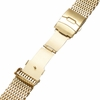 Stainless Steel Metal Shark Mesh Bracelet 20mm Watch Band Double Locking Gold #5031
