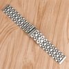 Lacoste Compatible Stainless Steel Polished Metal Replacement Watch Band Strap Butterfly Clasp #5055
