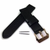 Timex Compatible Black 22mm Genuine Leather Watch Band Strap Rose Gold Steel Buckle #1003