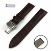 Timex Compatible Brown Croco Genuine Leather Replacement Watch Band Strap Steel Butterfly Buckle #1032