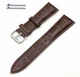 Timex Compatible Brown Elegant Croco Genuine Leather Replacement Watch Band Strap Steel Buckle #1042
