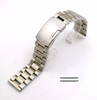 Two Tone Gold Steel Metal Bracelet Replacement 20mm Watch Band Button Clasp #5019