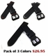Armitron Compatible Black Genuine Leather Replacement Watch Band Strap PVD Steel Buckle #1011