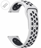 Nautica Compatible White & Black Silicone Replacement Watch Band Strap Quick Release Pins #4081
