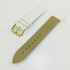 White Croco Leather Replacement 20mm Watch Band Strap Gold Steel Buckle #1085