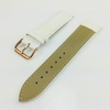 White Croco Leather Replacement 20mm Watch Band Strap Rose Gold Steel Buckle #1075