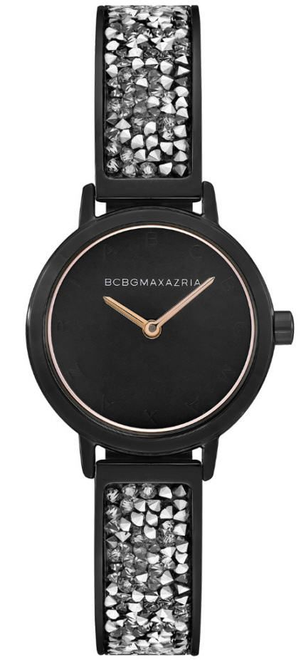 Women's BCBGMAXAZRIA Black With Crystallized Bracelet BCBG Watch BG51000006