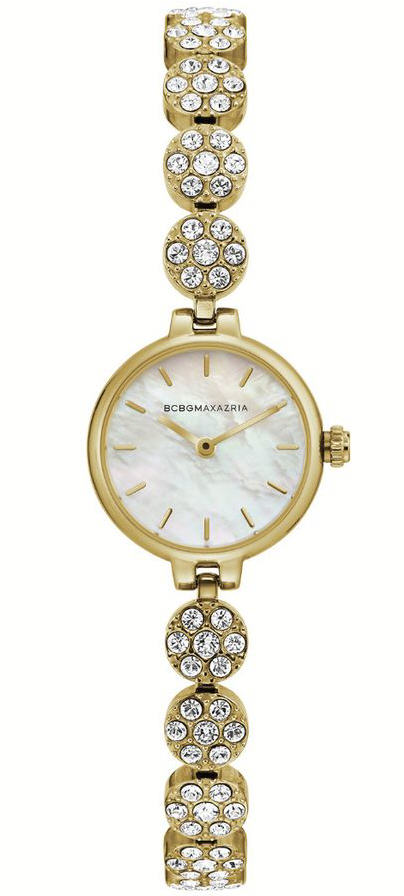 Women's BCBGMAXAZRIA Crystallized Dial Yellow Gold Steel BCBG Watch BG50681001