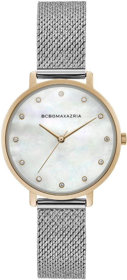 Women's BCBGMAXAZRIA Gold Mother of pearl Silver Mesh Dial BCBG Watch BG50996008
