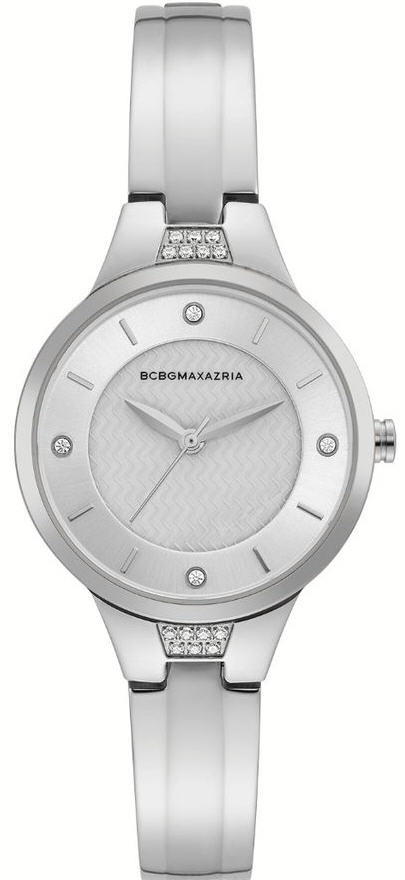 Women's BCBGMAXAZRIA Pearl Dial Crystalized Steel BCBG Watch BG50667002