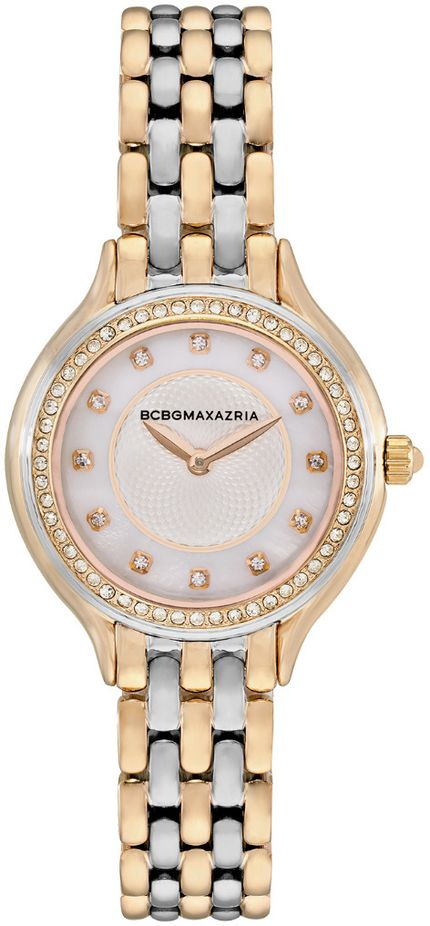 Women's BCBGMAXAZRIA Two Tone silver Gold Mother of pearl BCBG Watch BG50999007