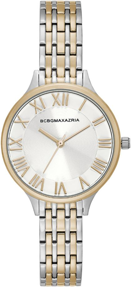 Women's BCBGMAXAZRIA Two tone silver Gold With Silver Dial BCBG Watch BG50991012