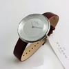 Women's Brown Skagen Gitte Faceted Glass Watch SKW2273