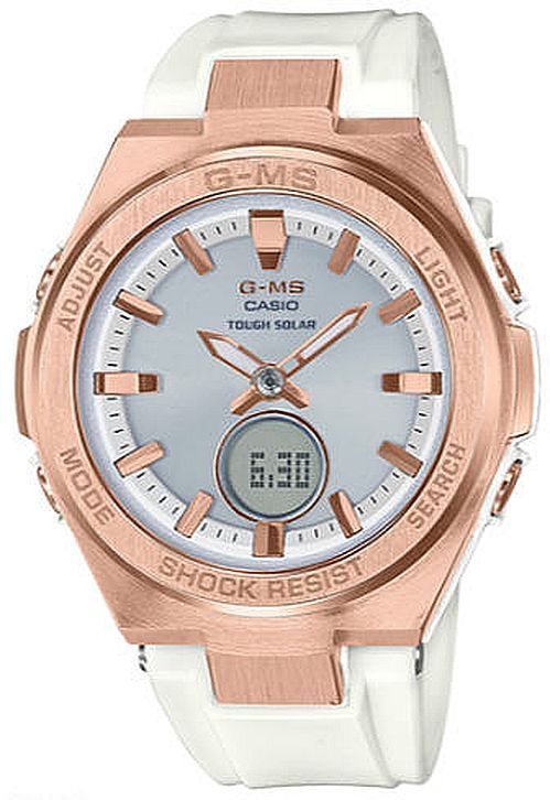 Women's Casio G-Shock G-MS Series Solar Power Rose Gold Watch MSGS200G-7A