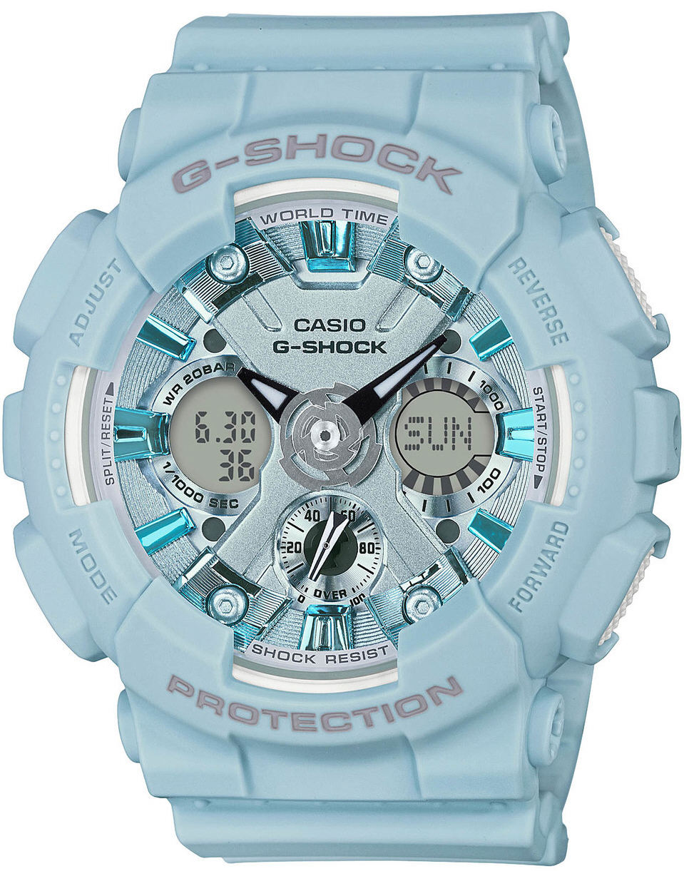 Women's Casio G-Shock S Series Blue Ana-Digi Watch  GMAS120DP-2A