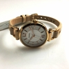 Women's Fossil Georgia Beige Leather Strap Watch ES3745