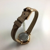 Women's Fossil Jacqueline Mini Beige Leather Strap Watch ES3802
