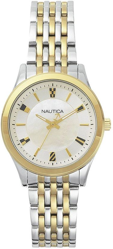Women's Nautica Stainless Steel Link 36mm Watch NAPVNC004