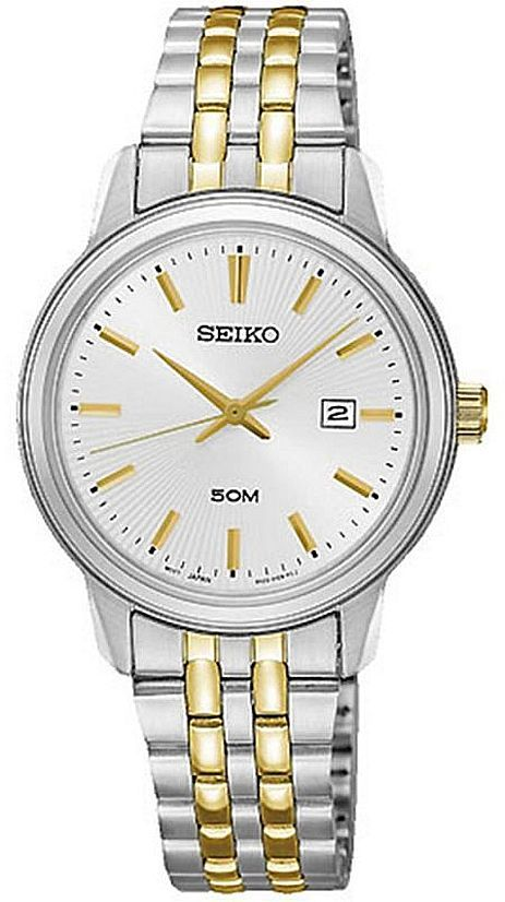 Women's Seiko Two Tone Stainless Steel Dressy Watch SUR661 SUR661P1