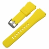 Huawei 2 Yellow Rubber Silicone Replacement Watch Band Strap Quick Release Pins #5055