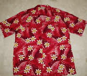 107 Hawaiian Shirt Colorful Red Flower M-2XL