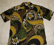 116 Hawaii shirt Colorful Turtle Black M - 2XL
