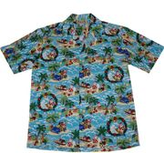 117 Hawaiian shirt Blue Christmas, size M - 2XL