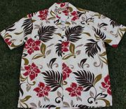 120 Hawaiian shirt Red leaf, Size M to 3XL