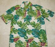 124 Hawaiian shirt Green leaf M-2XL